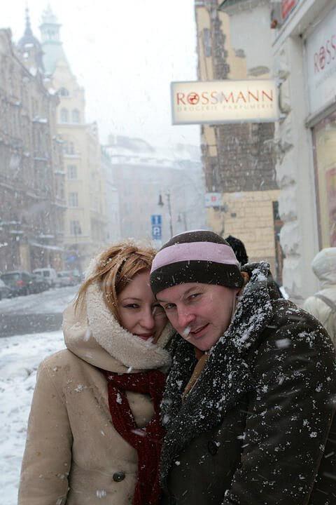 Айна Николаева с мужем