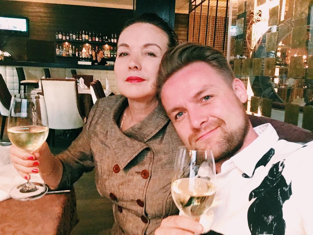 Иван Базанов с мамой