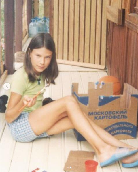 Анна Сочина в детстве