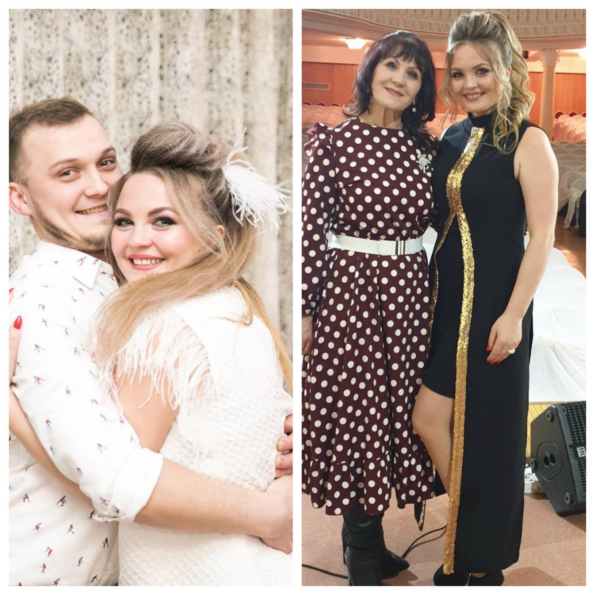Айгуль Габдуллина с братом и мамой