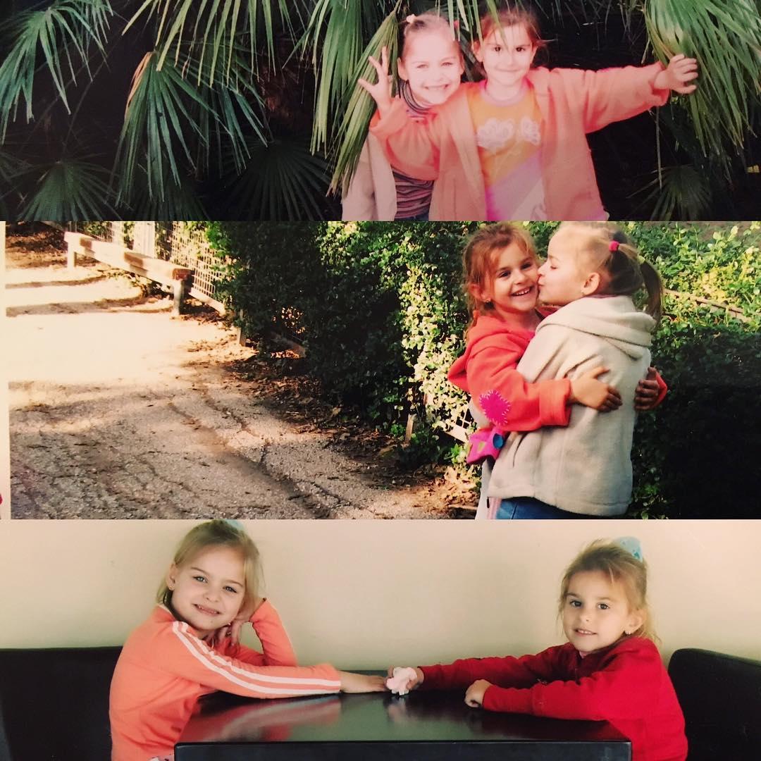 Анна Трубецкая в детстве с двоюродной сестрой