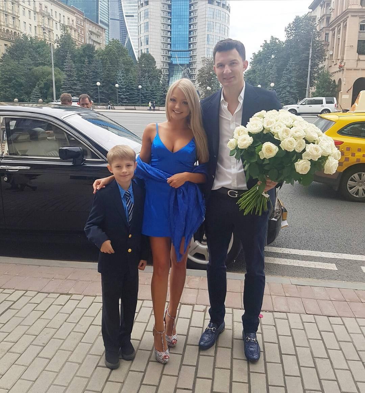 Екатерина Коба с мужем и сыном