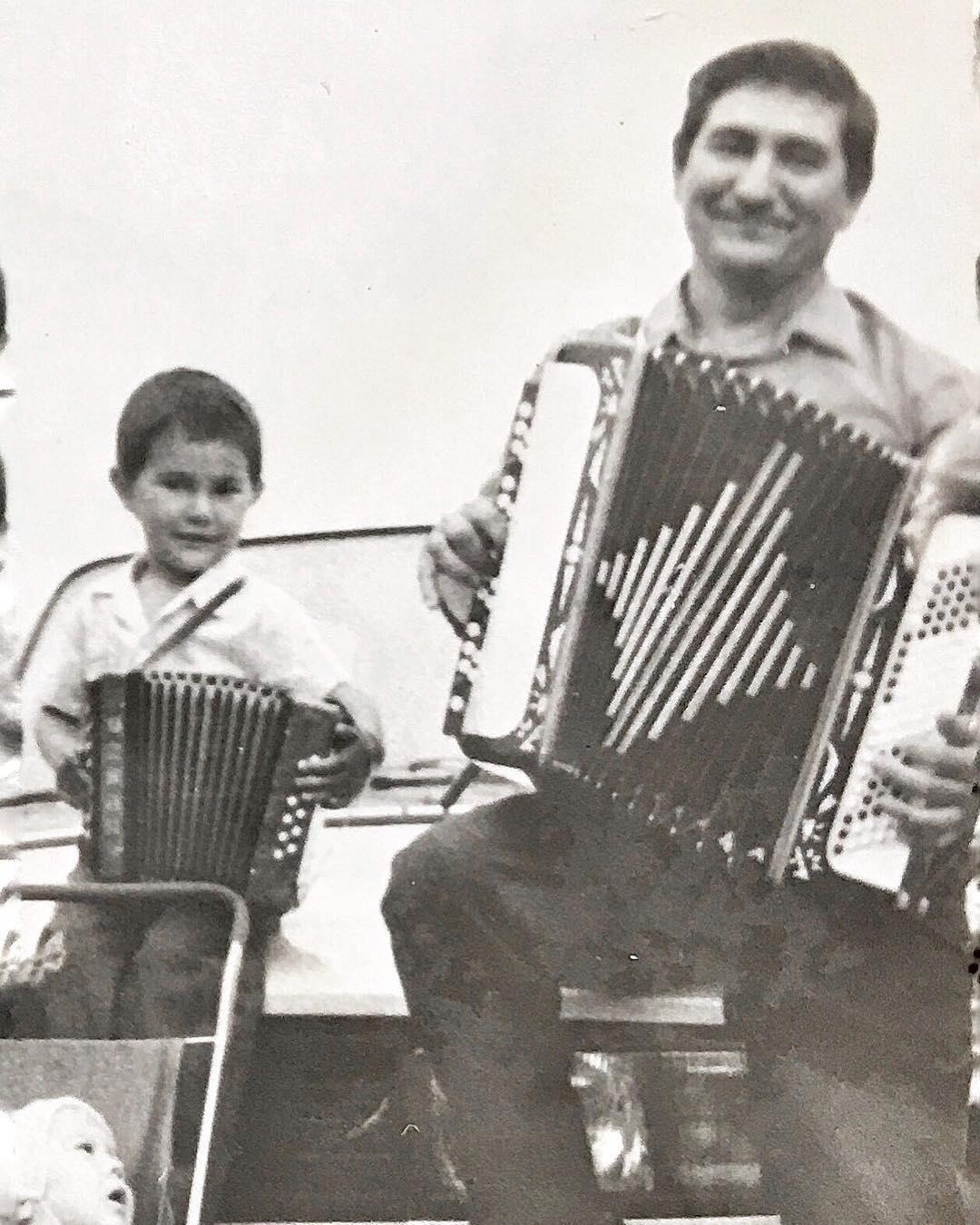 Ильшат Яппаров в детстве с отцом