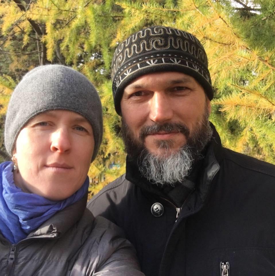 Василий Гелеван с женой