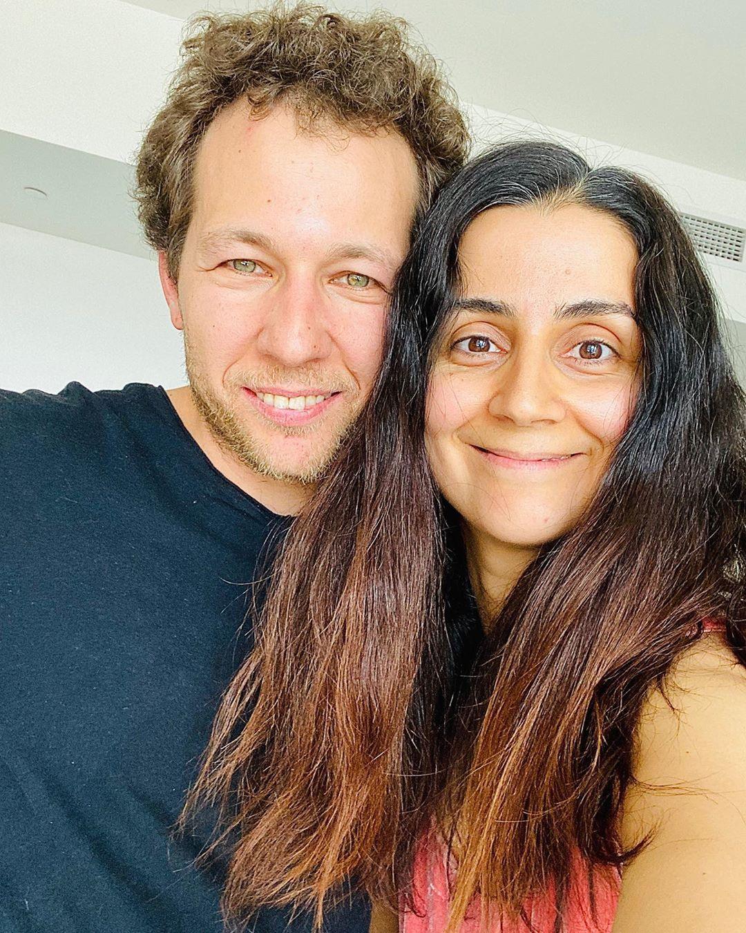 Альбина Ицхоки с мужем Олегом