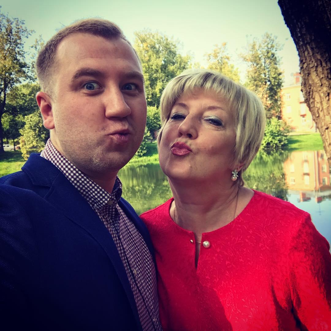 Алексей Грильков с мамой