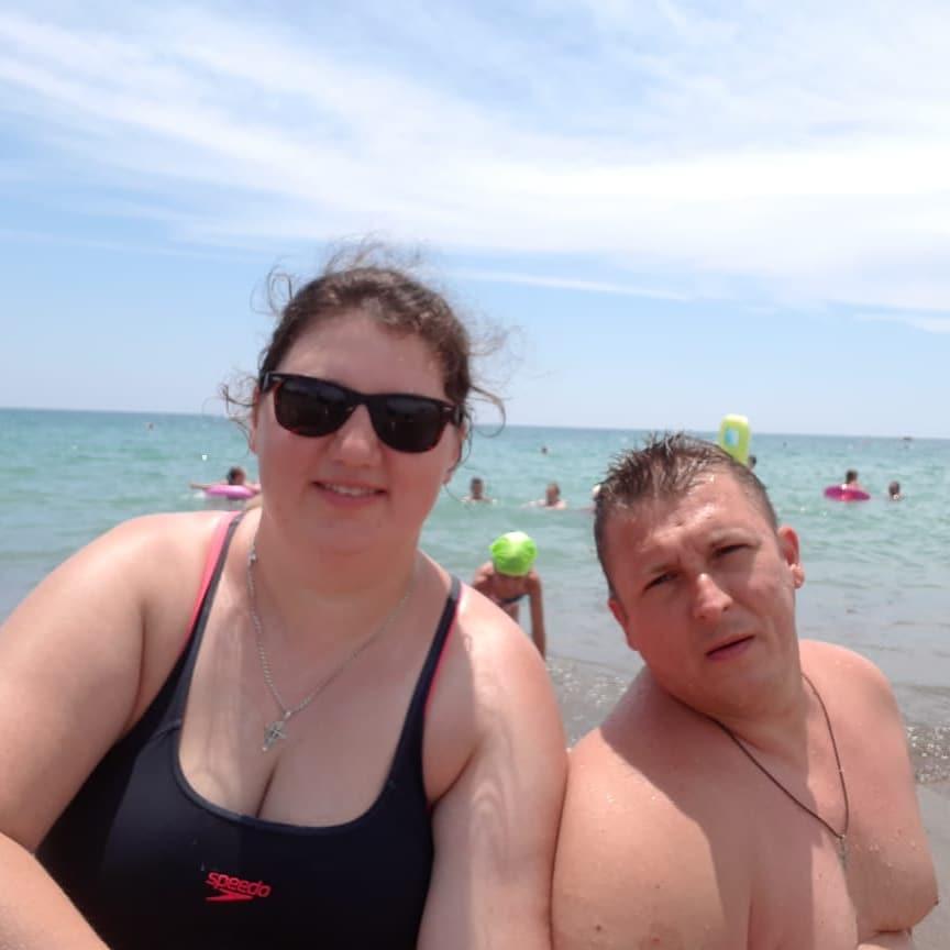 Мария Мироневич до похудения с мужем