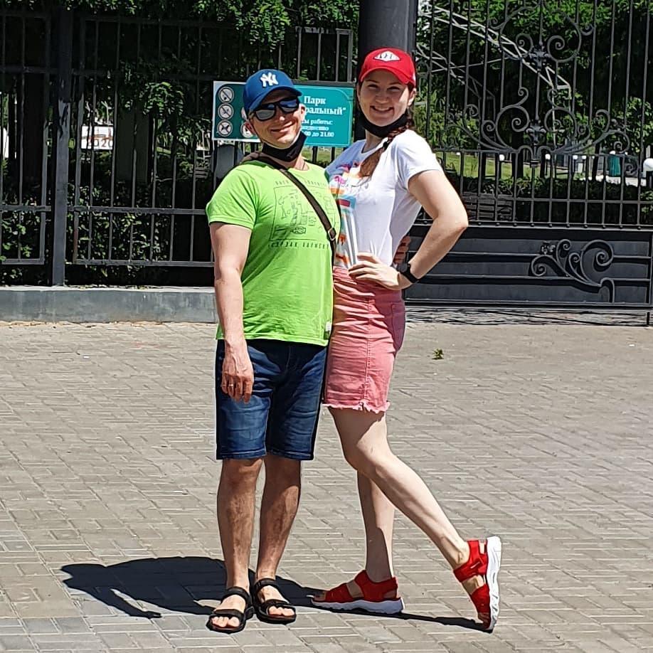 Мария Мироневич с мужем после похудения