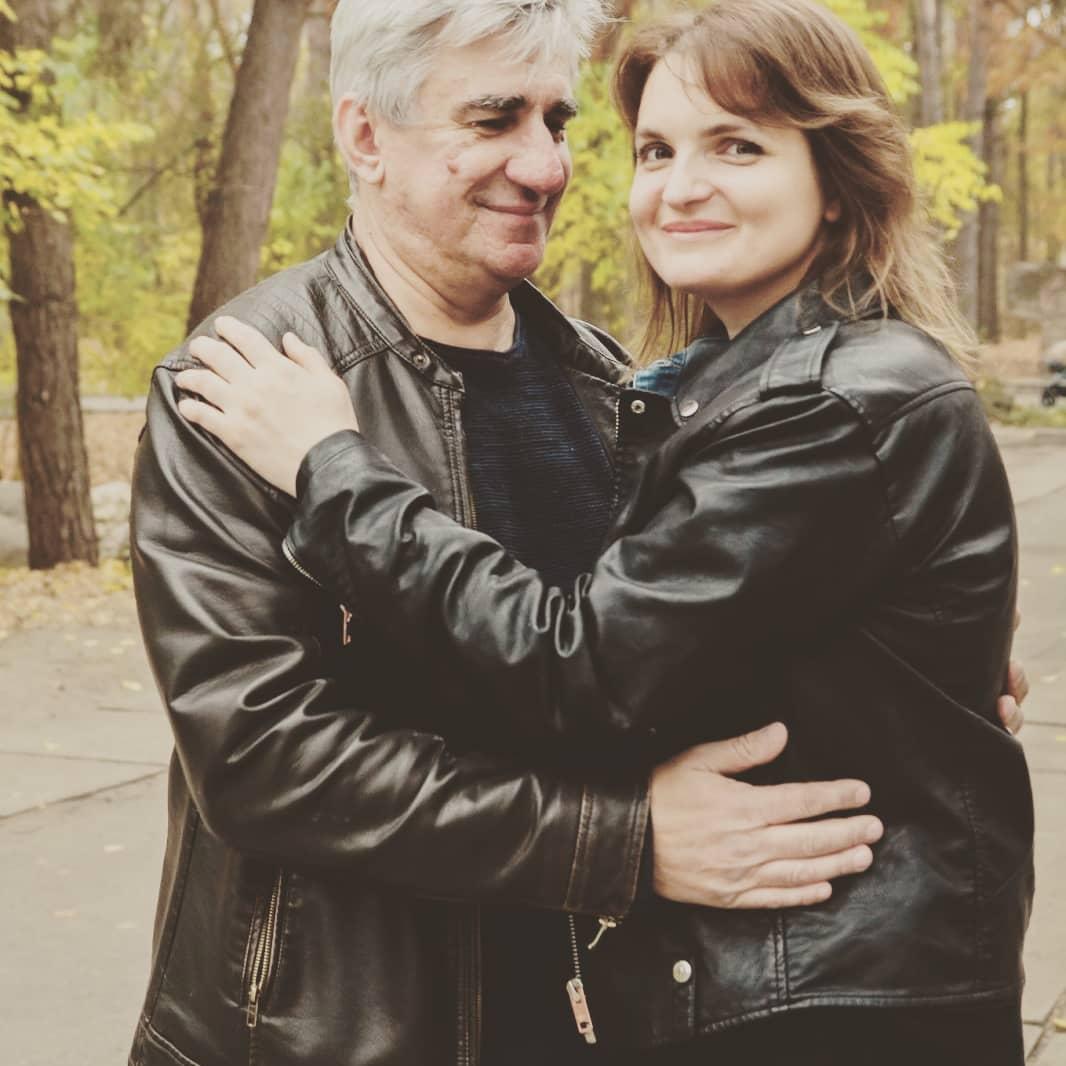Елена Гагосова с мужем