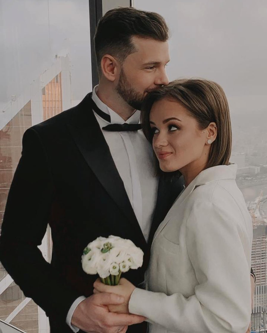 Ольга Якунина с мужем