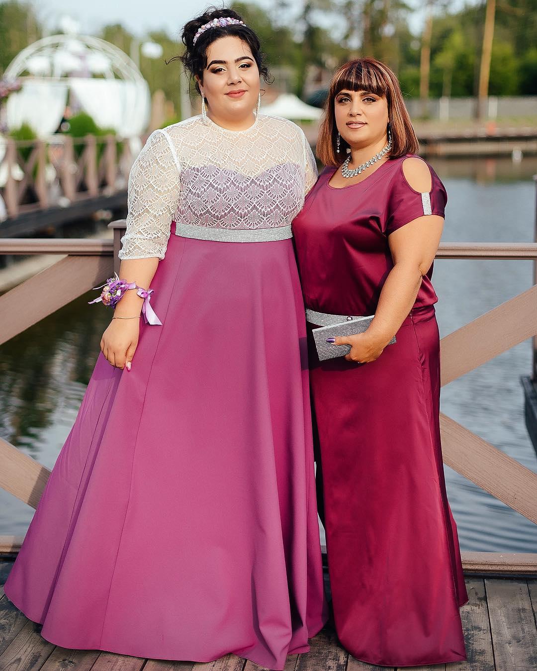 София Броян с мамой до похудения