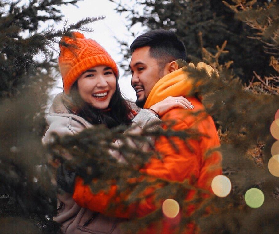 Айсулу Нуртаева с мужем