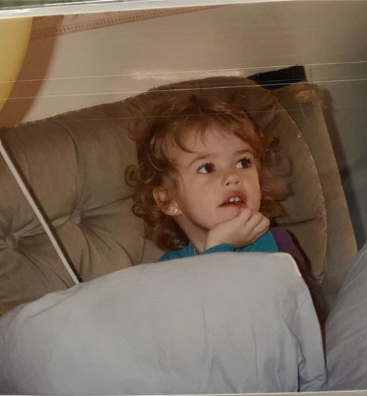 Анна Бокий в детстве